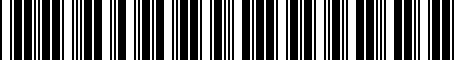 Barcode for PT22848100