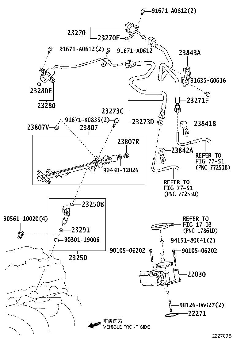 Toyota 4runner Hose  Fuel  System  Injection