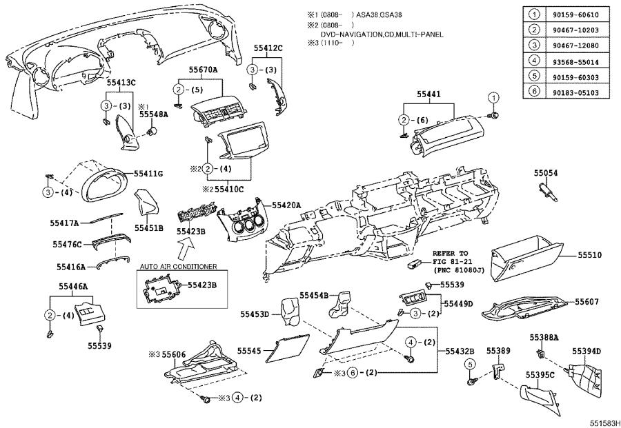 Toyota RAV4 Fuse Box Cover. Cover, Fuse Box Opening. SAND ...