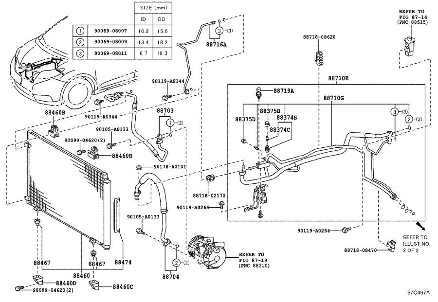 Toyota Sienna Sensor  Air Conditioner Pressure
