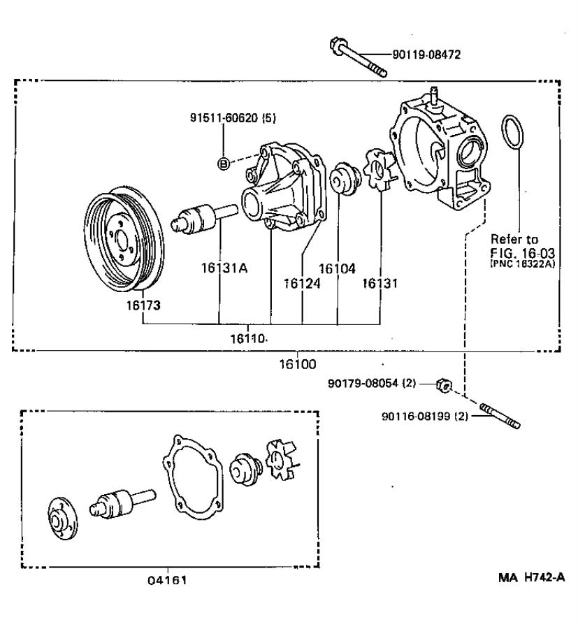 Toyota Tercel Seal Set  Water Pump  Aisin  Engine
